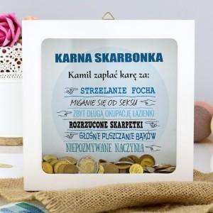 skarbonka z napisem Zapłać Karę Za na prezent na walentynki