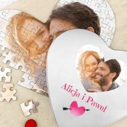 fotopuzzle w puszcze na prezent dla zakochanych