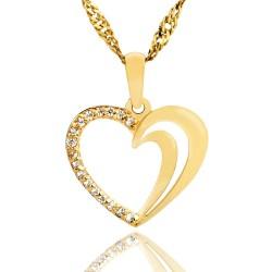 zawieszka serce złota na upominek dla dziewczyny