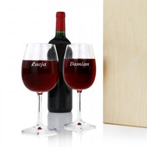 kieliszki do wina z grawerem na upominek