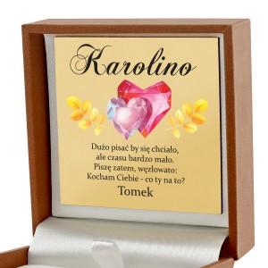 pudełko biżuteryjne z dedykacją na upominek dla dziewczyny