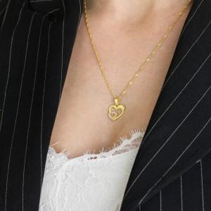 spersonalizowane złote serduszko ze złota 585