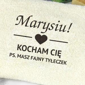 haftowany ręcznik Fajny Tyłeczek upominek dla dziewczyny