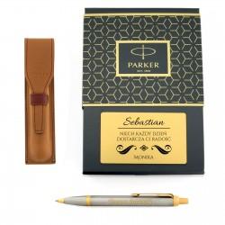 długopis Parker z grawerem dedykacji w etui i pudełku