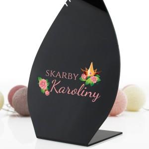 stojak na naszyjniki z imieniem Skarby
