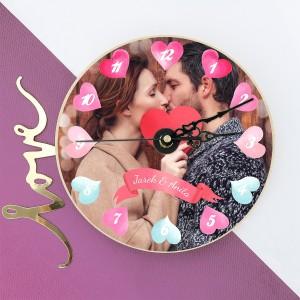 zegar ze zdjęciem Czas Miłości na prezent na walentynki