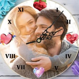 zegar z nadrukiem zdjęcia Magia Serc na prezent dla dziewczyny