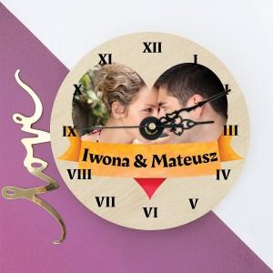 zegar z nadrukiem zdjęcia Miłosne Godziny