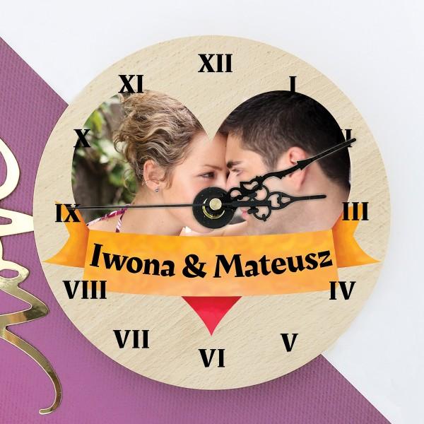 zegar ze zdjęciem Miłosne Godziny