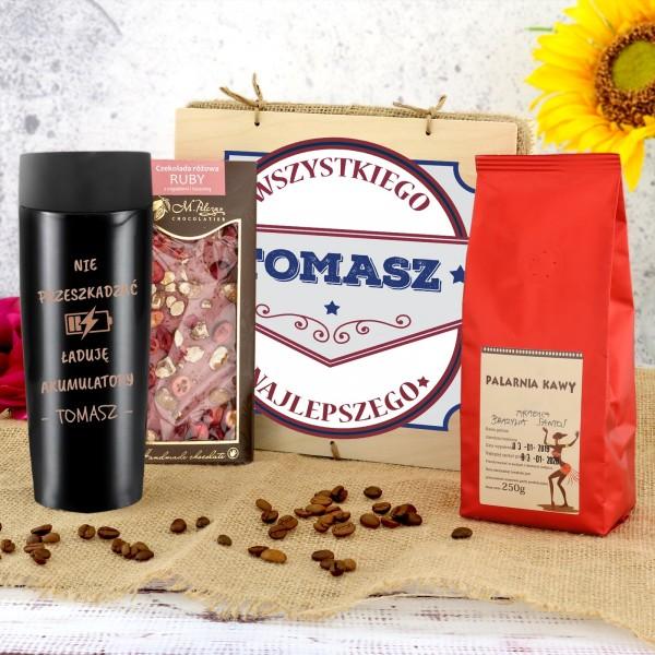 zestaw prezentowy dla mężczyzny z kawą