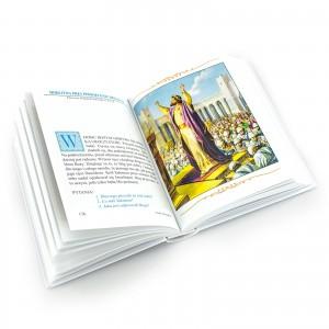 Ilustrowana biblia dla dzieci na chrzest Różowy aniołek na prezent z okazji chrztu