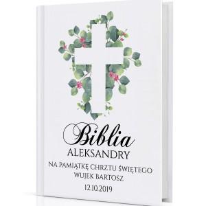 biblia dla dzieci na chrzest z nadrukiem Boża Nowina