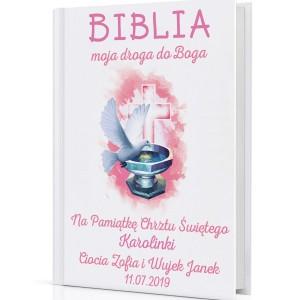 spersonalizowana biblia Moja Droga do Boga na prezent na chrzest