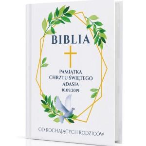 spersonalizowana biblia dla dzieci Pamiątka Chrztu Świętego na prezent