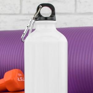 biały bidon na wodę z możliwością personalizacji