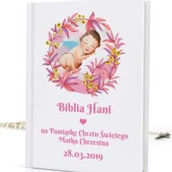 biblia na chrzest z nadrukiem Boży Aniołek
