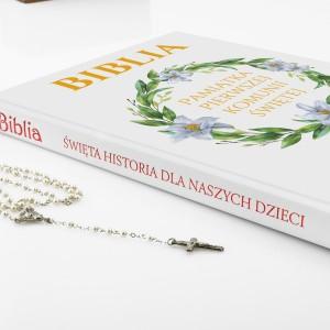 spersonalizowana biblia z nadrukiem Dar Boży na prezent z okazji komunii