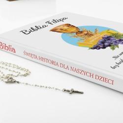 biblia dla dzieci z nadrukiem Dobry Jak Chleb na prezent z okazji komunii