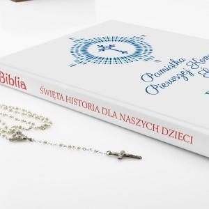 biblia dla chłopca Nowe Przykazania z nadrukiem na pamiątkę pierwszej komunii
