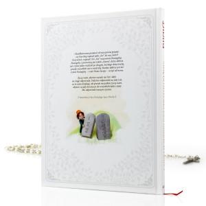 biblia z dedykacją na prezent na komunie