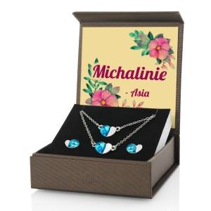 zestaw biżuterii z grawerem na prezent dla niej