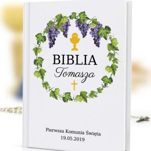 prezent na komunię święta biblia dla dzieci z nadrukiem Droga Chrystusa