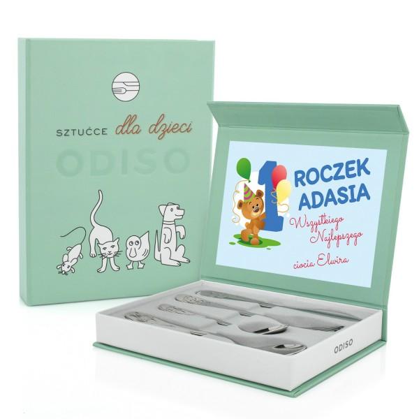 sztućce dla dzieci na prezent na pierwsze urodziny