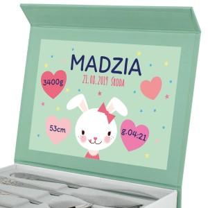sztućce z grawerem dla dziecka w pudełku z dedykacją
