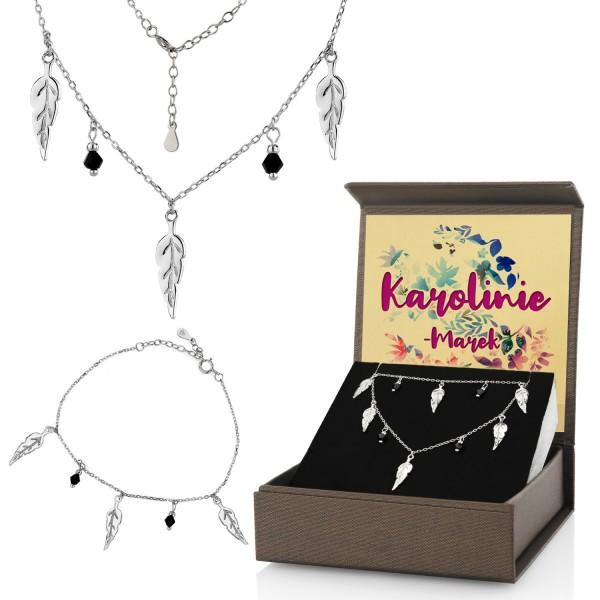 zestaw biżuterii dla niej naszyjnik i bransoletka