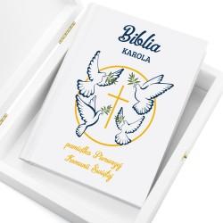 biblia dla dzieci na komunię białe gołębice