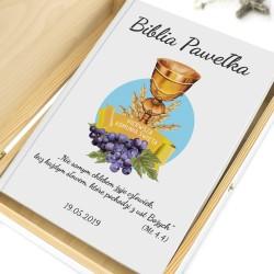 biblia dla dzieci na prezent na komunię dla chłopca