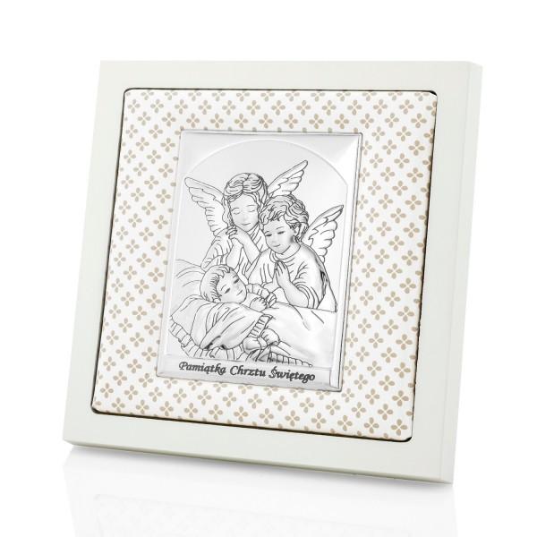 obrazek na chrzest na prezent anioły