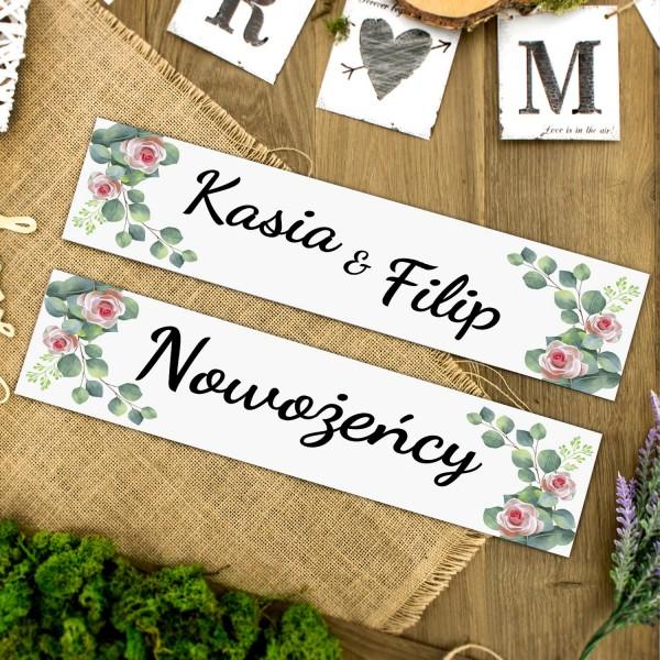 tablice rejestracyjne ślubne z personalizacją