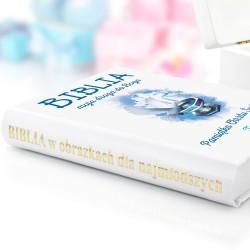 biblia na chrzest z personalizowaną okładką droga do boga