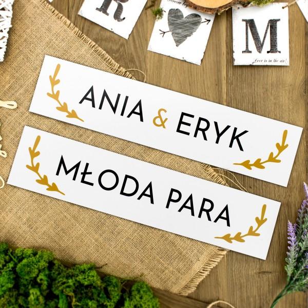 tablice rejestracyjne ślubne z imionami