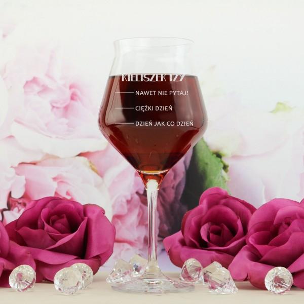 kieliszek do wina z grawerem miarka na prezent dla niej
