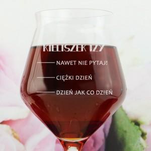 kieliszek do wina z imieniem na prezent dla dziewczyny