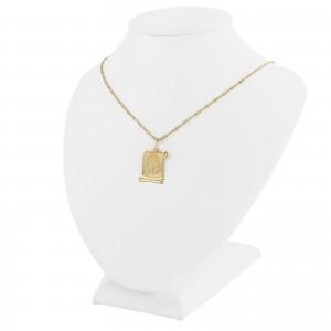 złoty łańcuszek z medalikiem na oryginalny prezent na komunię