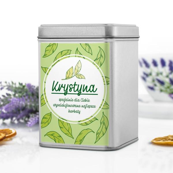 pudełko na herbatę z personalizacją na prezent na imieniny