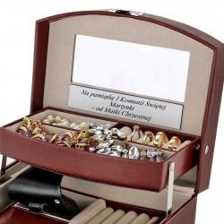 pamiątka na komunie szkatułka na biżuterię z dedykacją