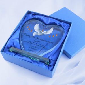 statuetka serce z dedykacją na prezent na bierzmowanie dla dziewczyny dary ducha świętego