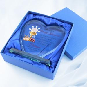 statuetka serce z nadrukiem na prezent na komunię dla chłopca