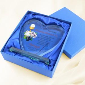 prezent z okazji komunii statuetka serce z dedykacją