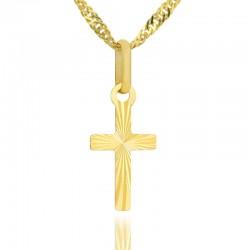 złoty krzyżyk na komunię
