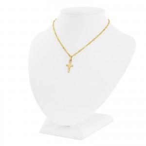pamiątka komunijna złoty krzyżyk z łańcuszkiem