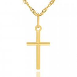 złoty krzyżyk na prezent komunijny dla dziecka