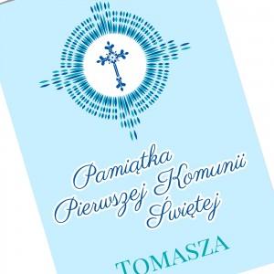 kartka z okazji komunii z imieniem