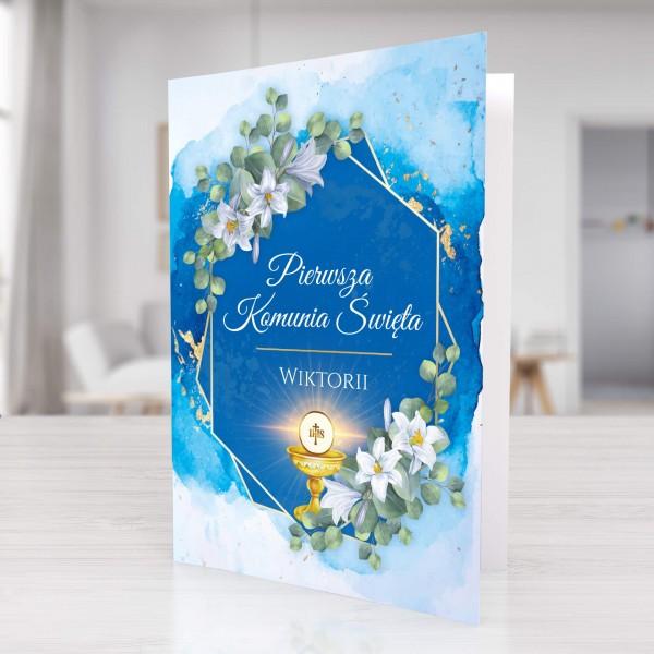 kartka z życzeniami na komunię