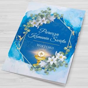 kartka z życzeniami z okazji komunii