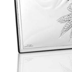 obrazek srebrny na prezent z okazji komunii